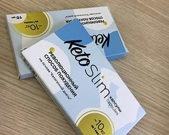 Внешний вид упаковки капсул keto slim для похудения