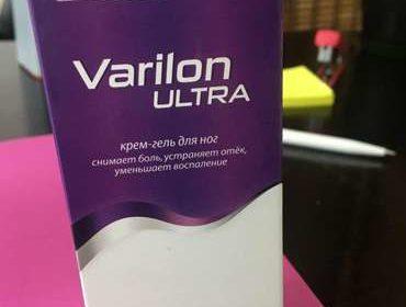 Упаковка лекарства Варилон Ультра крупным планом.